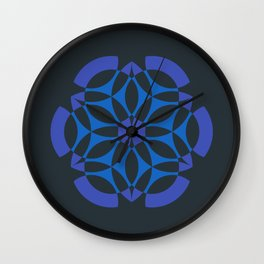 Stealthy sense | Abstract sacred geometry | Aliens crop circle Wall Clock