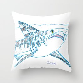 Tiger Shark II Throw Pillow
