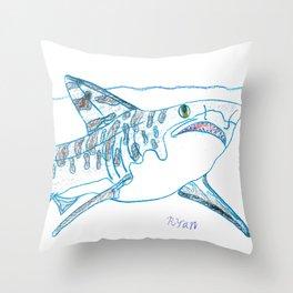 Tiger Shark II Throw Pillow