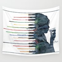 piano Wall Tapestries featuring Piano by Veronika Neto