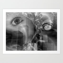 halloween eye is watching Art Print