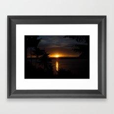 Puget Sound Sunset Framed Art Print