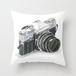 35mm film camera Throw Pillow