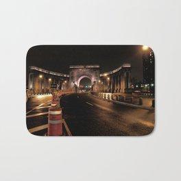 manhattan bridge at night Bath Mat
