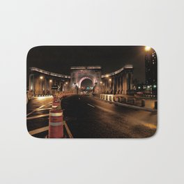 manhattan bridge at night Bath Mat