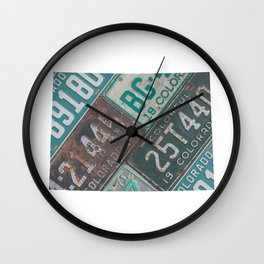 Vintage Colorado Wall Clock