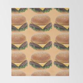Cheeseburger Throw Blanket