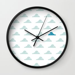 Cloudy Day Pattern 1 Wall Clock