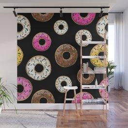 Funfetti Donuts - Black Wall Mural