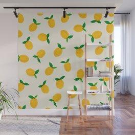 Lemon_Yellow_Pattern_01 Wall Mural
