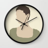 les miserables Wall Clocks featuring Fantine - Anne Hathaway - Les Miserables by Hrern1313