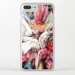 Floral Glitch II Clear iPhone Case