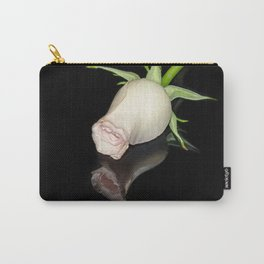 The Black Square and a White Rose Carry-All Pouch