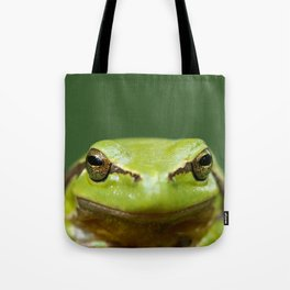 It's not Easy Being Green! (Tree Frog Close up) Tote Bag