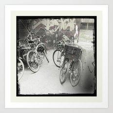 Bikes of Mile end / Les vélos du Mile end Art Print