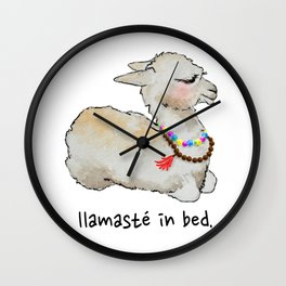 Llamaste in bed. Wall Clock