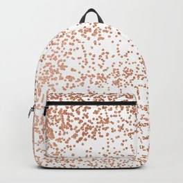 Elegant pink rose gold glam confetti Backpack