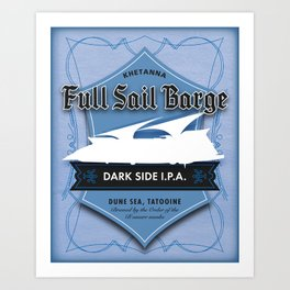 Full Sail Barge Ale Art Print