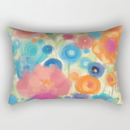 Flower Power Garen by Odette Lager Rectangular Pillow
