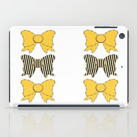 bows iPad Cases featuring Sunshine Bows  by Ambers Illustration