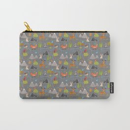 Forest Cute Animals and Birds Pattern Carry-All Pouch