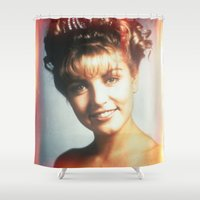 """laura palmer Shower Curtains featuring Twin Peaks """"Laura Palmer"""" by Spyck"""