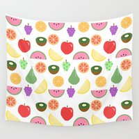 fruit Wall Tapestries featuring Fruit by Hedvig Wallin