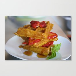 Sunday Waffles Canvas Print