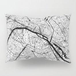 Paris Black and White Map Pillow Sham