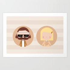 Margot & Richie Art Print