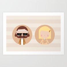 Margot & Richie  Art Print