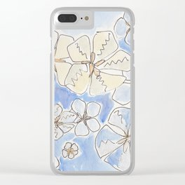 Maine Sand Dollars - Blue and Yellow Tones Clear iPhone Case