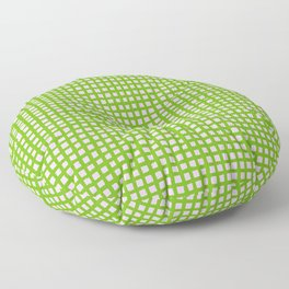 Green on Pink Graphic Netting Floor Pillow