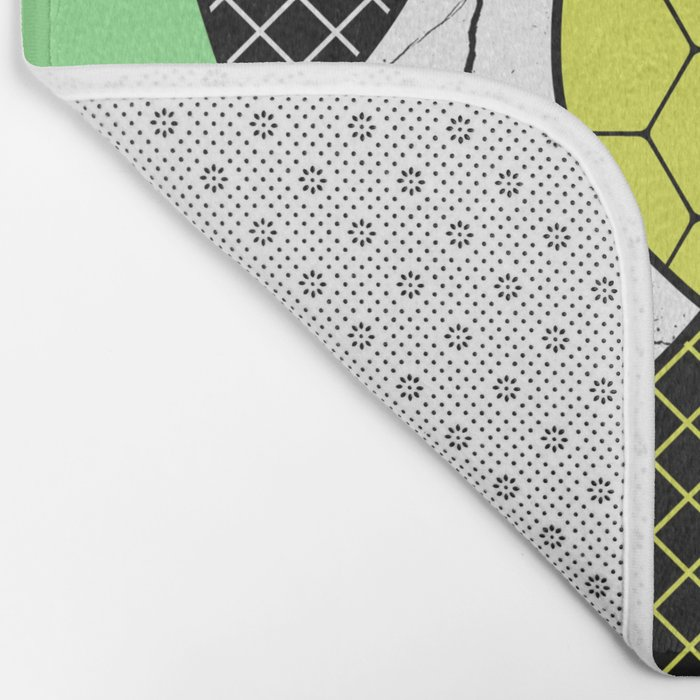 Pastel Collage - Multi patterned, abstract, pastel themed geometric art Bath Mat
