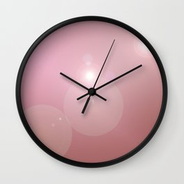 Pinkish Pastel Wall Clock