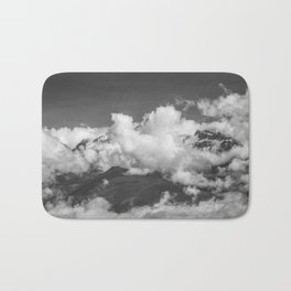 Volcano Chachani in Arequipa Peru Covered by Clouds Bath Mat