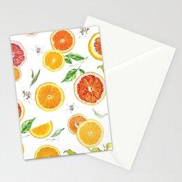 Orange slices 3 #pattern #trendy #style Stationery Cards