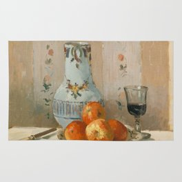 Camille Pissarro - Still Life with Apples and Pitcher (1872) Rug