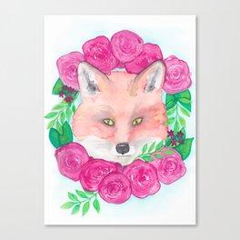 Foxy Love Canvas Print