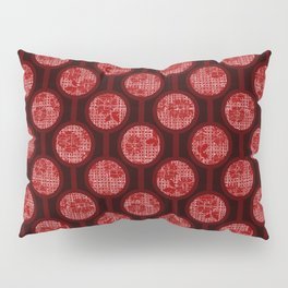 Retro-Delight - Simple Circles (Laced) - Cherry Pillow Sham