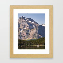 Grinnell Point and Swiftcurrent Lake in Glacier National Park Framed Art Print