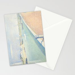 Georges Seurat - The Channel of Gravelines Stationery Cards