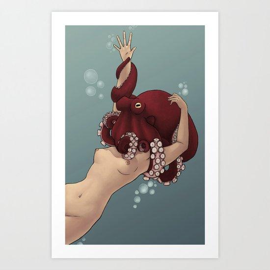 OctoWoman Art Print