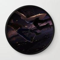 destiel Wall Clocks featuring Supernatural - Destiel by arttano