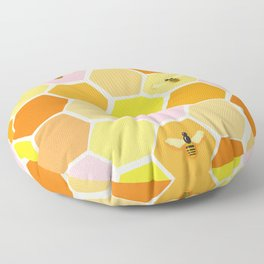 Busy As A Bee In A Hive Floor Pillow