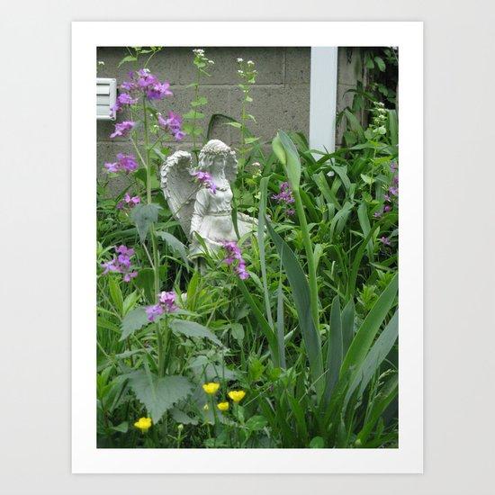 garden angel 3 Art Print