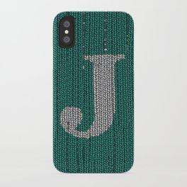 Winter clothes. Letter J III iPhone Case