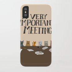 A Very Important Meeting iPhone X Slim Case