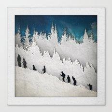 A Snowy Hike II Canvas Print