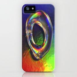 HOLOGRPAHIC letter O iPhone Case